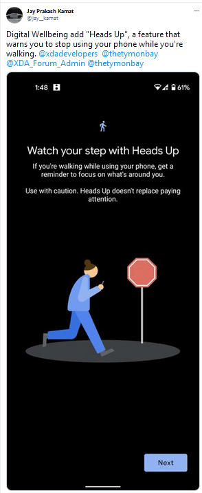 Google's 'Heads Up' Feature