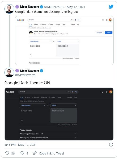 Google Search Dark Mode for Desktops Is Now Available to a Subset of Users