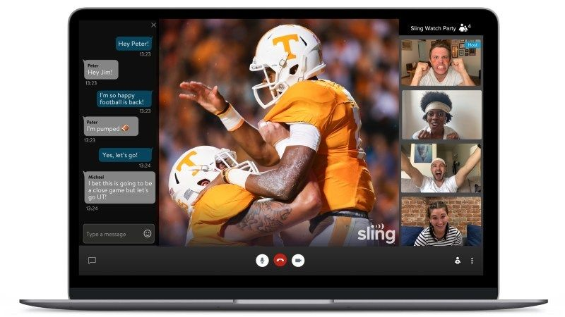 Sling TV supports AirPlay now for large screen viewing.