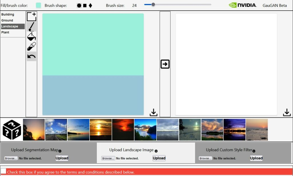 Canvas app from NVIDIA turns sketches into pictures