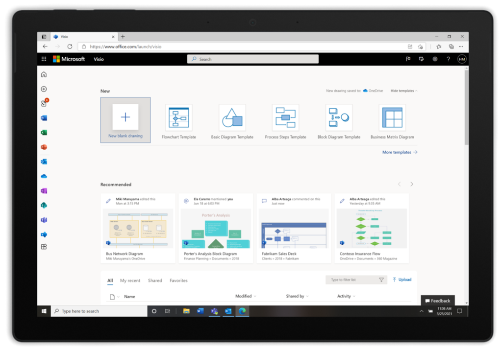 Visio web app is coming free to Microsoft 365 business users