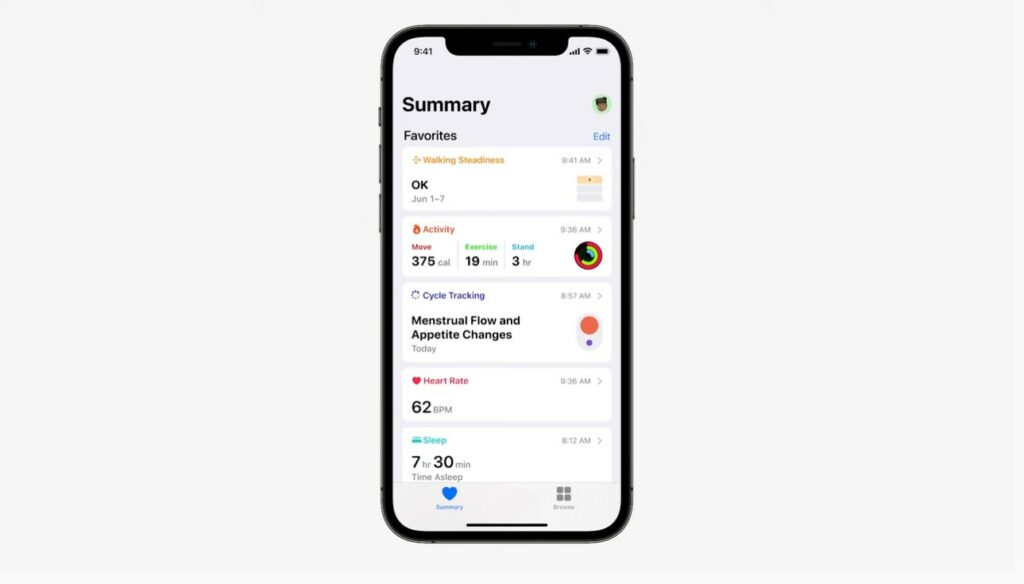 Apple Announces New Health App Features Including Walking Stability, Trends, Lab Results, and Health Sharing