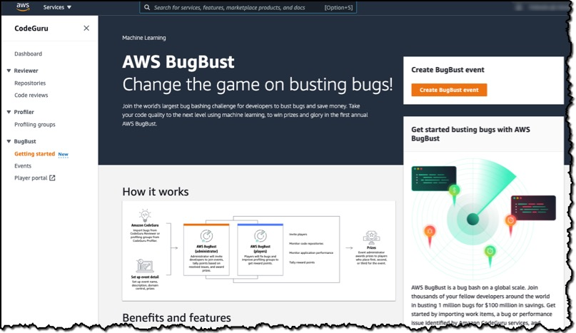 An overview of AWS BugBust Challenge