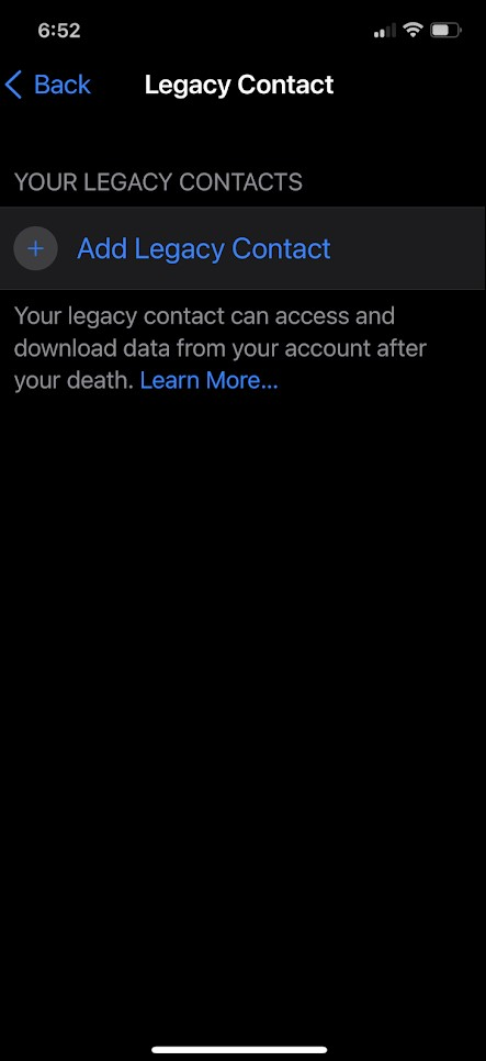 How to Set Up a Digital Legacy Contact to Pass on Data in iOS 15