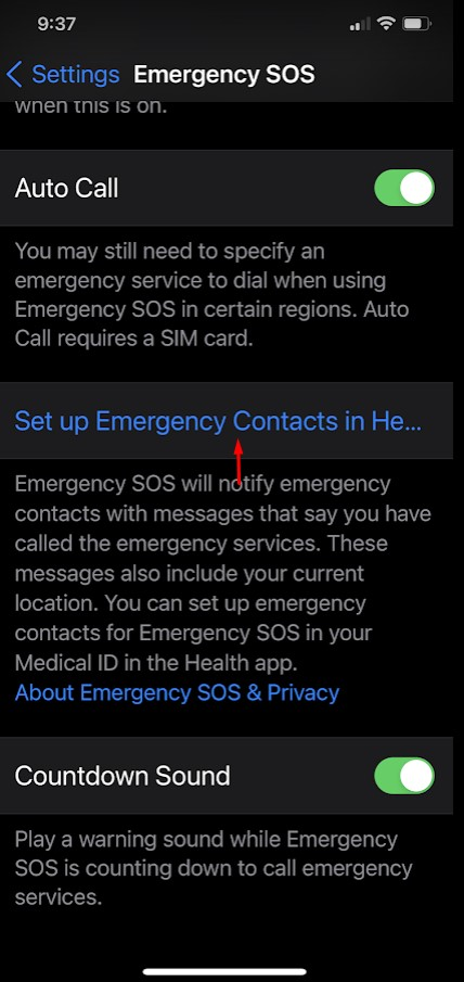 How to Configure and Activate Emergency SOS on the iPhone