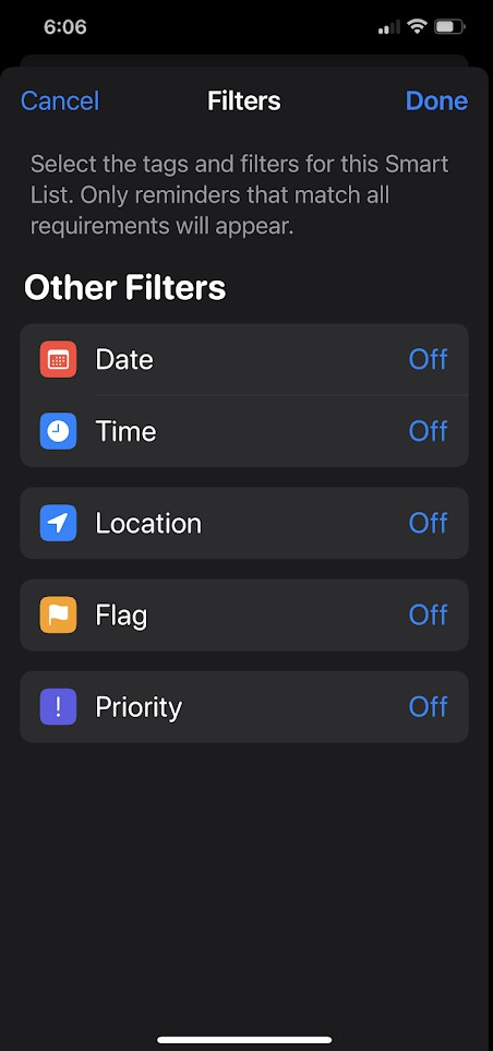 Here's how to create smart lists in the Reminders App in iOS 15