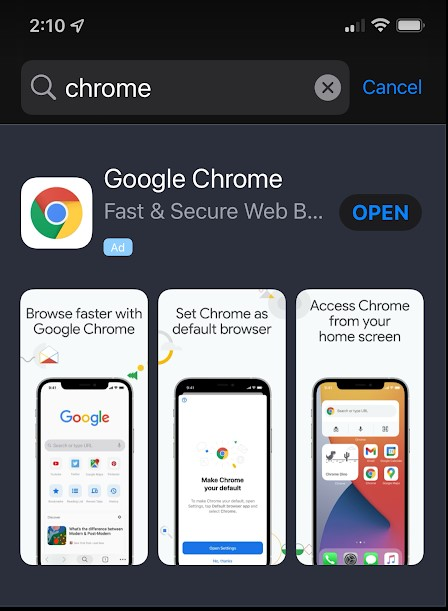 How to lock incognito Chrome tabs behind iPhone Face ID