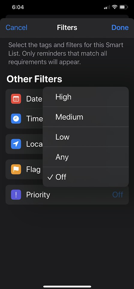 To Create Smart Lists in the Reminders App in iPhone