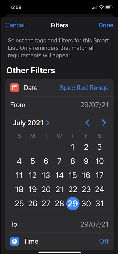 Make Smart Lists in the Reminders App in iOS 15