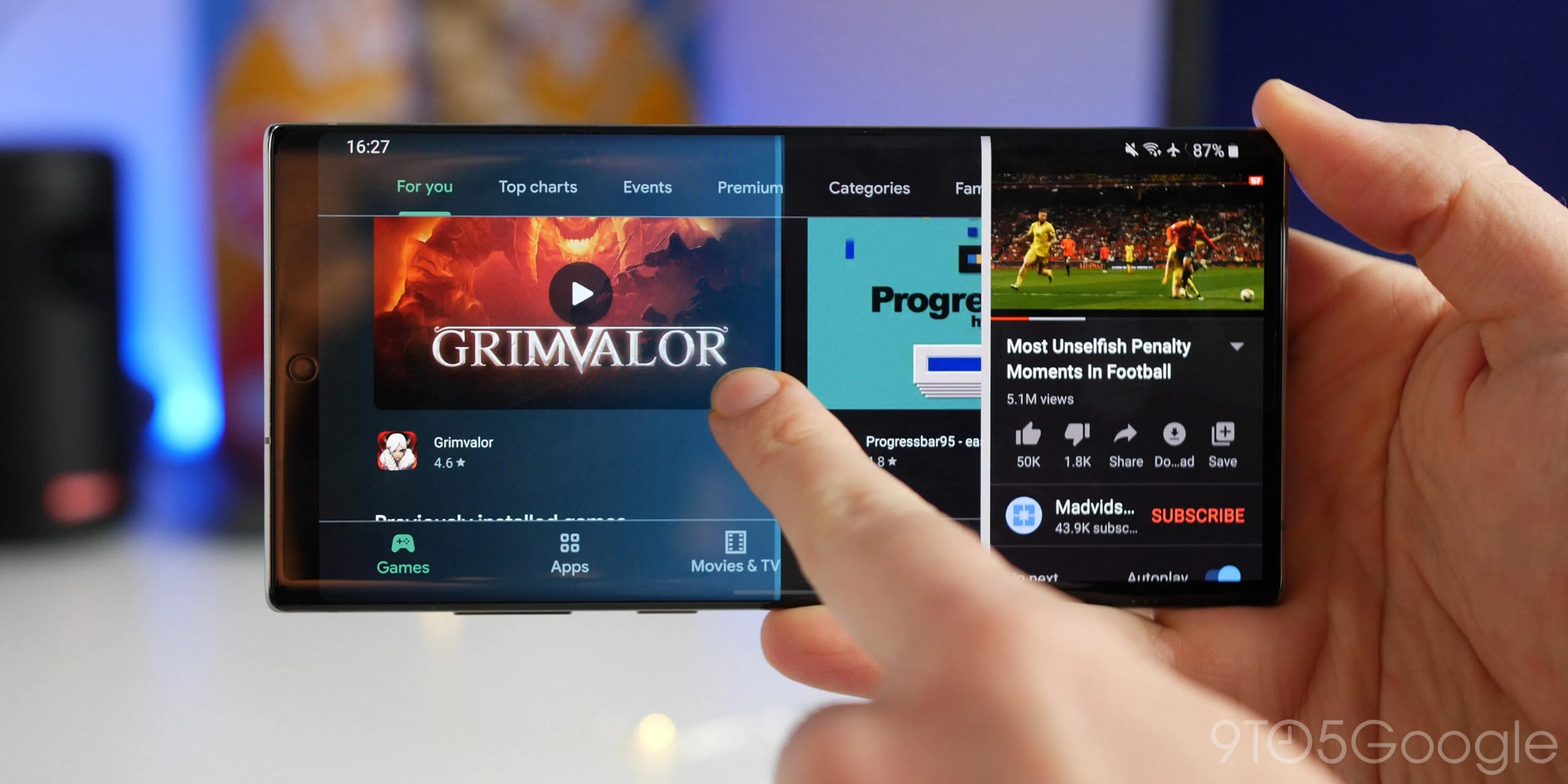How to run two apps simultaneously on Android through split-screen