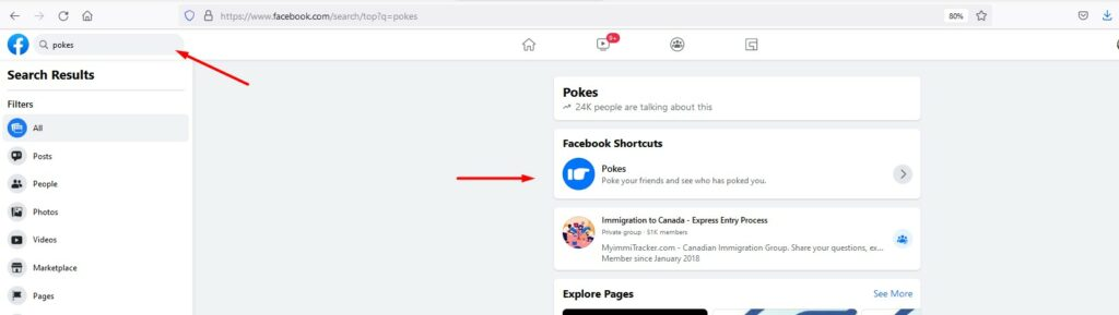 How to send a Facebook poke to someone