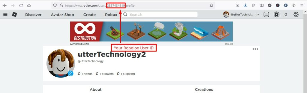 How to find Your User ID in Roblox