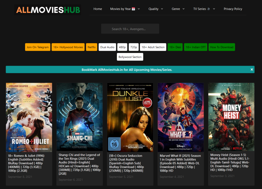 Top sites to download HD movies free to mobile phone